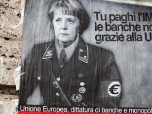 меркель еврофашистка нам в европу не надо!